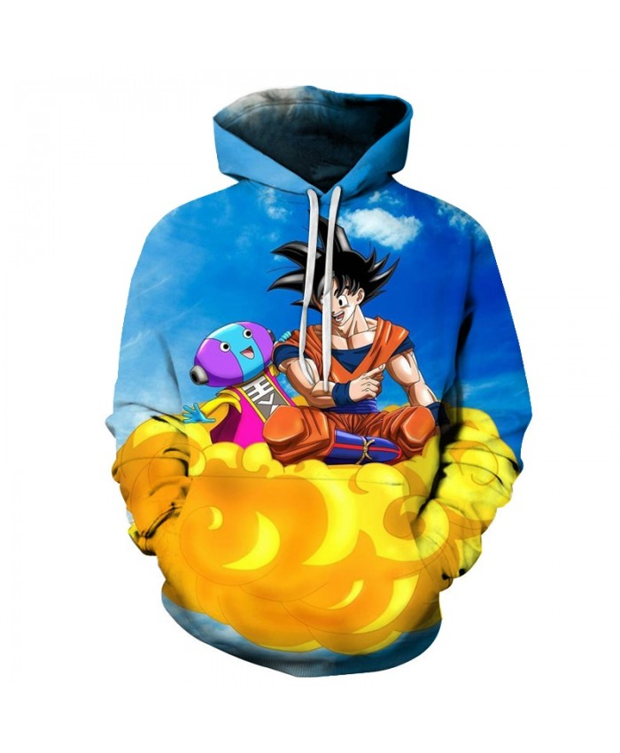 Cute Dragon Ball on the Clouds Hoodies Men Women 3D Hoodie Dragon Ball Z Sweatshirts Anime Fashion Casual Tracksuits Boy Jackets