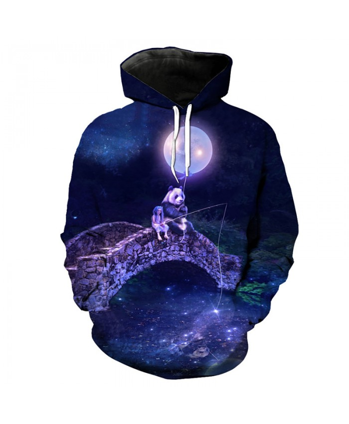 Cute Panda Girl Print Casual 3D Hooded Hooded Latest Sweatshirt Men Women Casual Pullover Sportswear