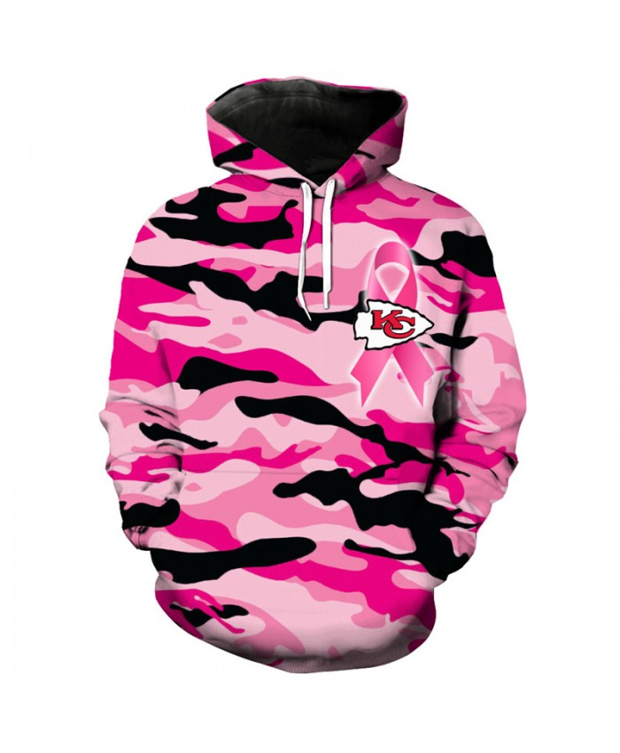 NFL Cute Pink Kansas City Chiefs Hoodies Fashion camouflage Sweatshirt Pullover