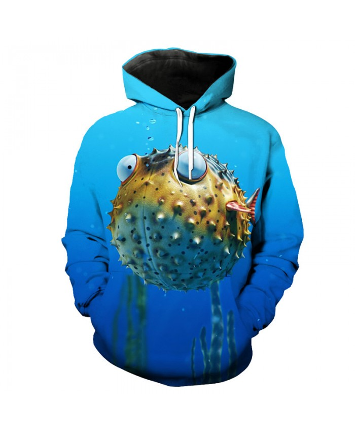 Cute Puffer Print 3D Fashion Hoodies Casual Sportswear Men Women Casual Pullover Sportswear