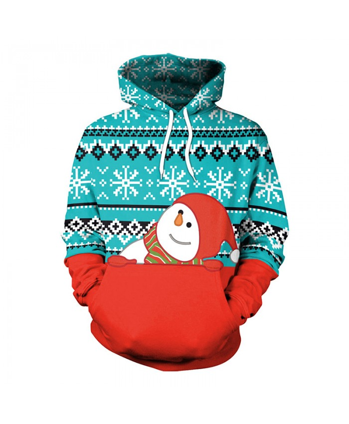 Cute Snowman Christmas Sweater Unisex Men Women Vacation Santa Elf Pullover Funny Sweaters Tops Autumn Winter Clothing