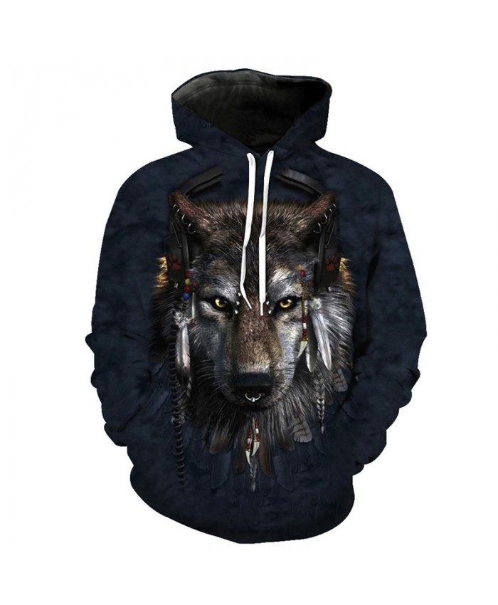 DJ Chiefs Wolf Fashion Hoodies Cool Casual Sweatshirt Men Women Casual Pullover Sportswear