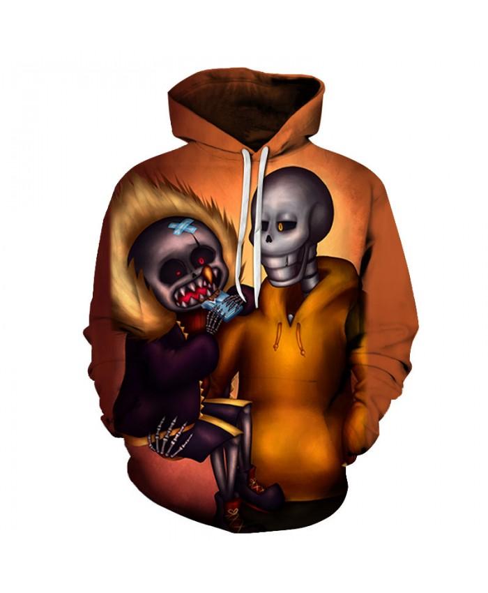 Dad&Son Skull 3D Print Hoodies Men Hoody Harajuku Hoodie Streatwear Sweatshirt Tracksuit Pullover Hip Hop Dropship