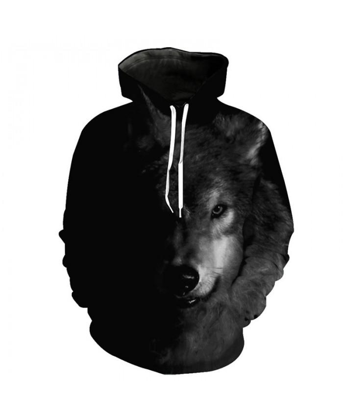 Dark Messenger Wolf Cool Hooded Sweatshirt Tracksuit Pullover Hooded Sweatshirt