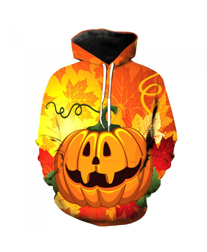 Dark Pumpkin 3D Print Hoodies Funny Pullovers Casual Halloween Streetwear Long Sleeve Sportwear