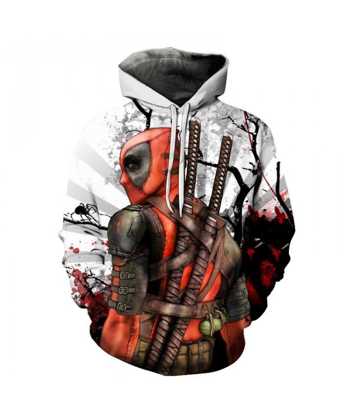 Deadpool 2 3D Print Avengers 3 Superhero Movie Iron Man Infinite War Cos Marvel Movie Super Hero Hood Zip Loose Hoodie