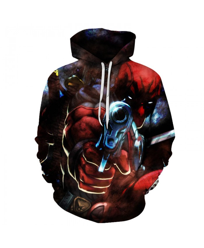 Deadpool 2 3D Print Avengers 3 Superhero Movie Iron Man Infinite War Movie Super Hero Hood Zip Loose Hoodie