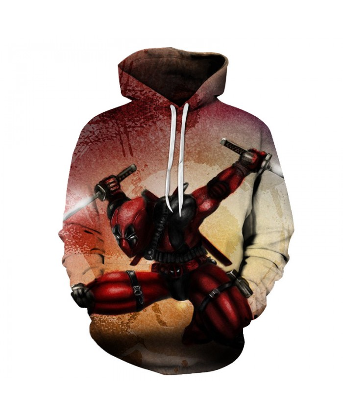 Deadpool 2 3D Printed Hoodies Men Superhero Harajuku 3d Sweatshirt Brand Pullover Unisex Tracksuits Boy Hoodie Male Coat Outwear
