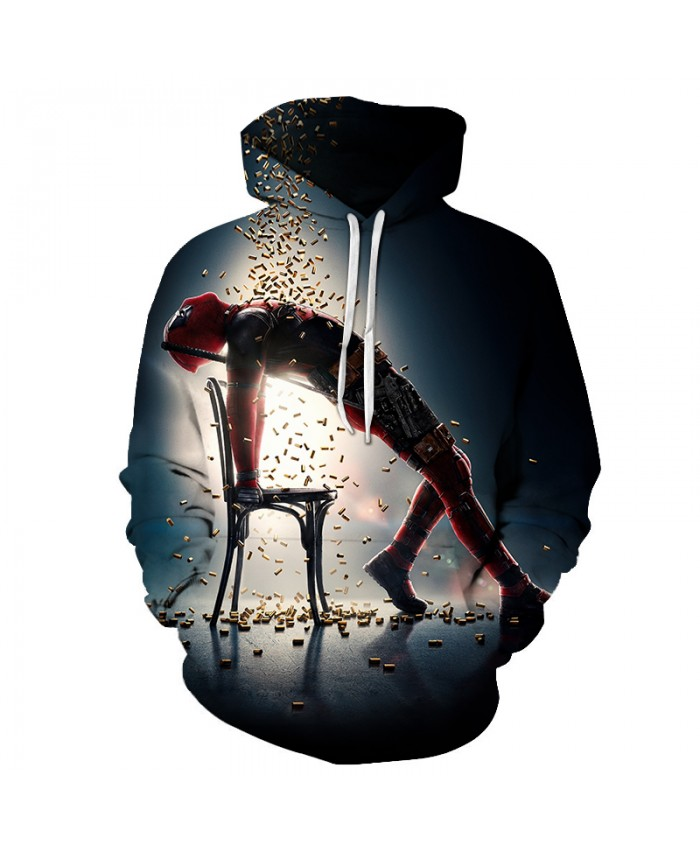 Deadpool 2 Printed 3D Hoodies Harajuku Hoody Men Sweatshirts Funny Streetwear Cool Men Hoodie Fashion Pullover Casual Tracksuits