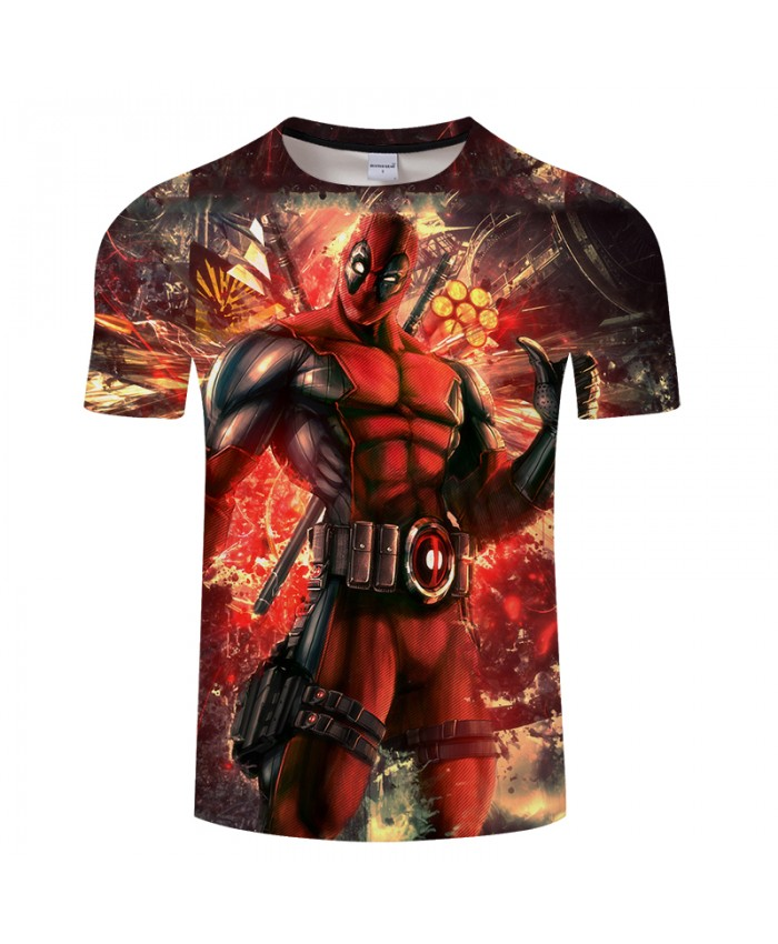 Deadpool 3D Print t shirt Men Women tshirt Summer Casual Short Sleeve O-neck Tops&Tee Streetwear Comic Drop Ship