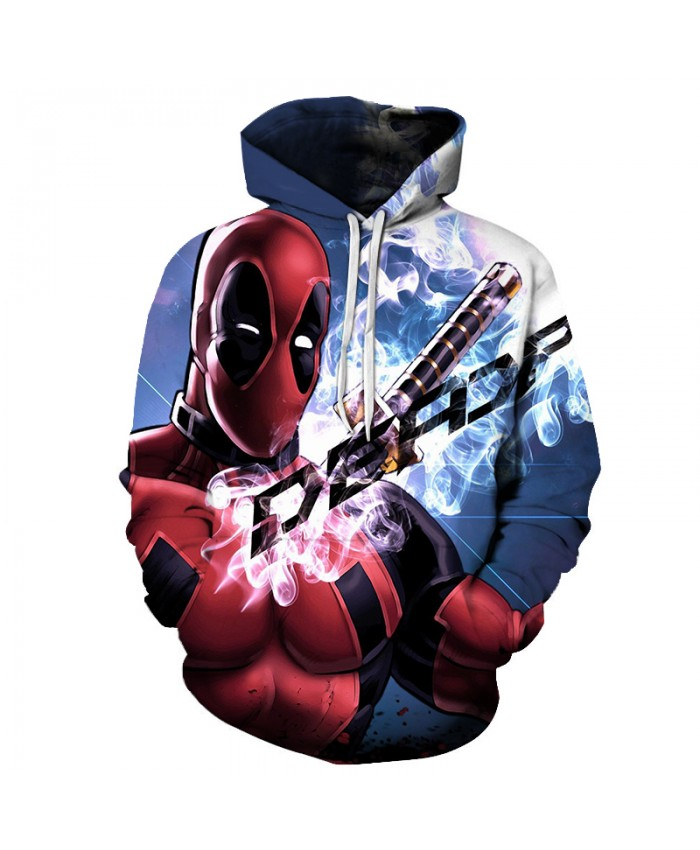 Deadpool 3D Sweatshirts Men Women Hoodies With Hat Print Fashion Autumn Winter Loose Thin Hooded Hoody Tops style 2019 New