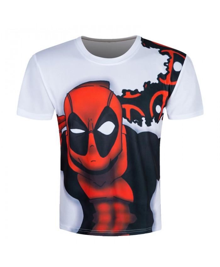 Deadpool Print T Shirt Men 3D T Shirt Skate Short Sleeve Summer Brand Clothing Male Camisa Character Funny Casual