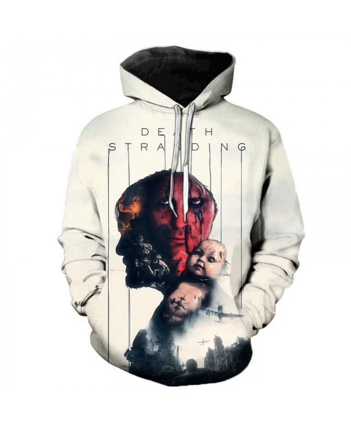 Death Stranding 3D Printed Hooded Sweatshirts Men Women Casual Streetwear Long Sleeve Hoodie Personality Game Hoodies