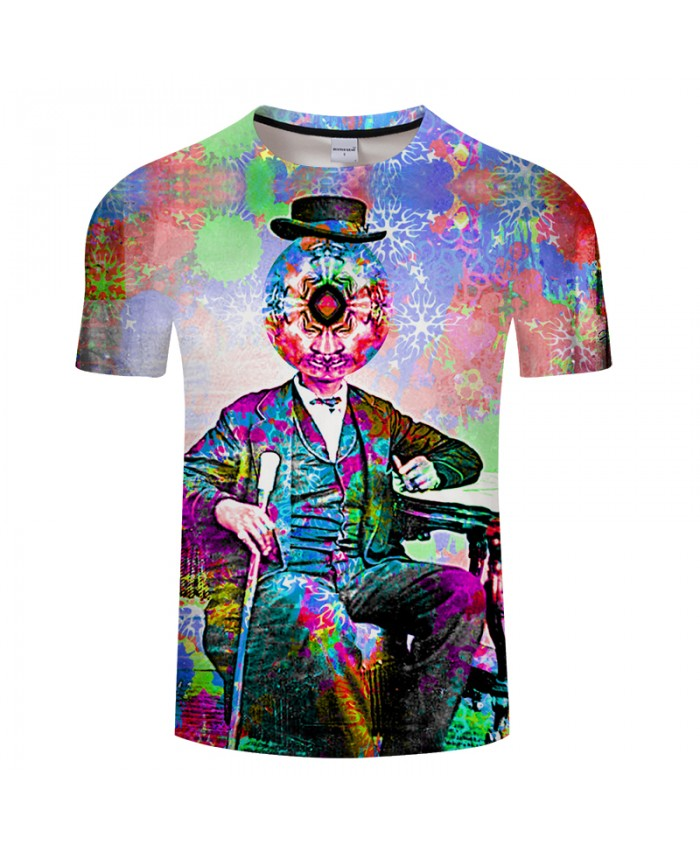 Decorative Pattern&Clown 3D Print t shirts Men Women tshirts Summer Funny Short Sleeve O-neck Tops&Tees Drop Ship