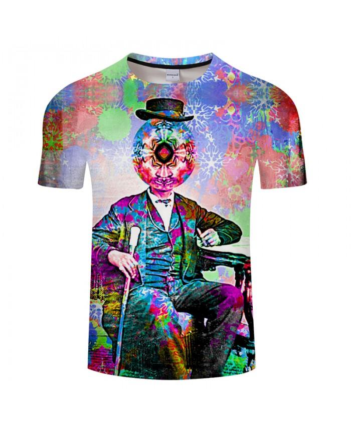 Decorative Pattern&Clown 3D Print t shirts Men Women tshirts Summer Funny Short Sleeve O-neck Tops&Tees Drop Ship