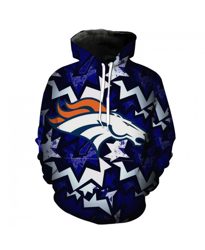 Denver Broncos Hoodie Football Broncos Streetwear Clothes Hooded Sweatshirt Autumn Men Women Casual Pullover Sportswear