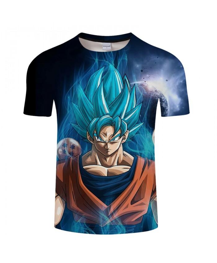 Digital Galaxy Goku 3D Print T shirt Men Summer Anime Short Sleeve Tops&Tees Tshirts Dragon Ball Drop Ship Camiseta