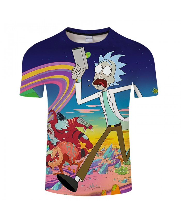 Digital Rick And Morty 3D Print t shirt Men Women tshirt Summer Cartoon Short Sleeve O-neck Tops&Tees 2019 Drop Ship