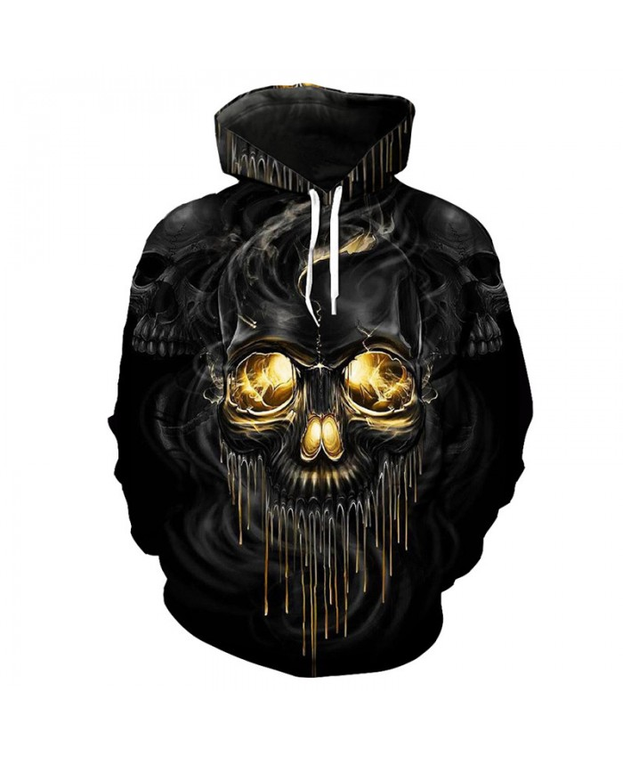 Dissolve metal Skull 3D hooded sweatshirt Fashion Smoke Skull latest sweatshirt Pullover Tracksuit Pullover Hooded Sweatshirt