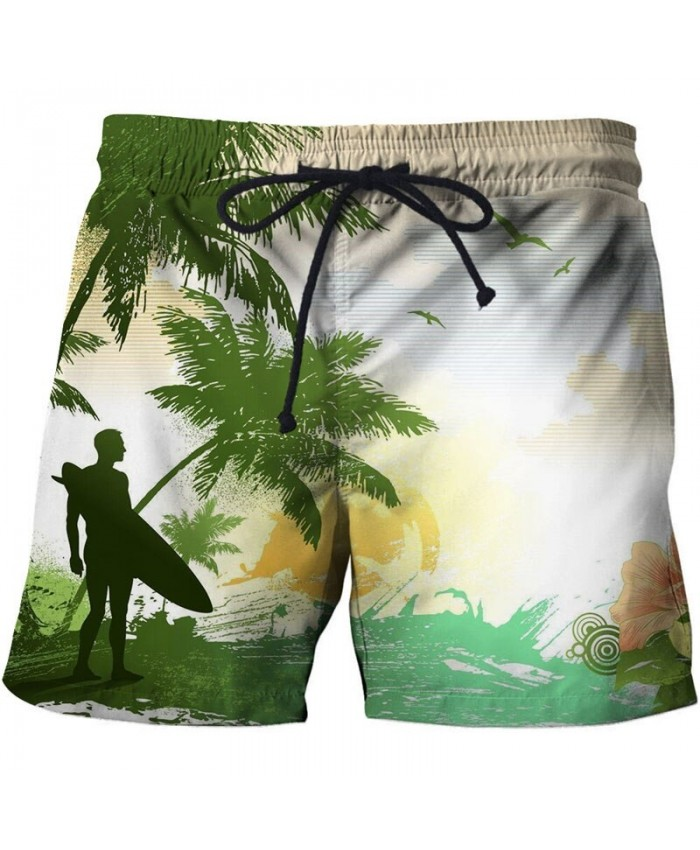 Distinctive Men Beach Shorts 3D Print Men Shorts Casual Cool Summer Men Elastic Waist Male Fitness Shorts Drop Ship