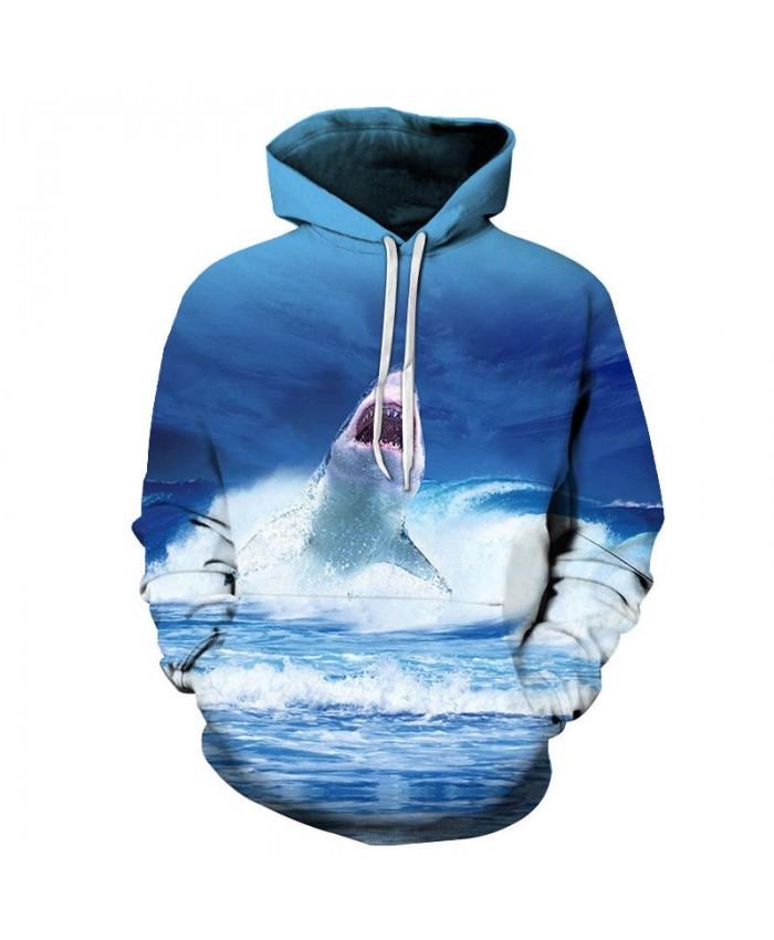 Dolphin Flying Man 3D Printed Men Pullover Sweatshirt Clothing for Men Custom Pullover Hoodie 2019 New Streetwear