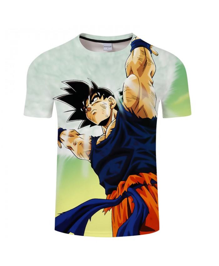 Double Print 3D T shirt Men Summer Anime Women Short Sleeve Tops&Tee Boy Tshirt Casual Harajuku Dragon Ball Drop Ship