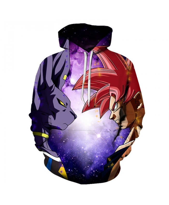 Dragon Ball Animal Glare Cartoon Goku 3D Hoodies Mens Pullover Sweatshirt Brand Pullover Hoodie Casual Hoodies Men