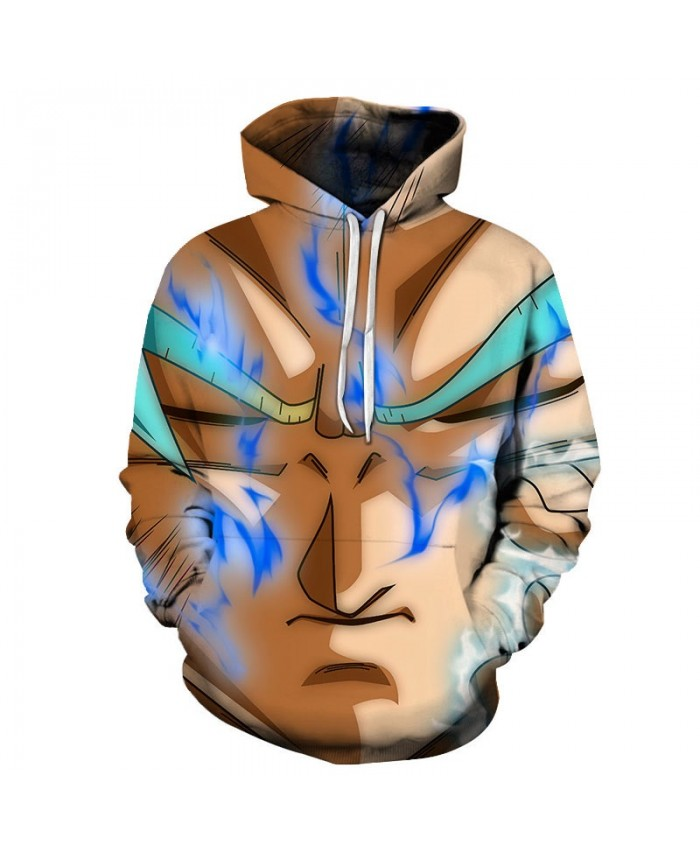 Dragon Ball Blue Smoke 3D Hoodies Mens Pullover Sweatshirt Brand Cosplay Pullover Hoodie Casual Fashion Hoodies Men
