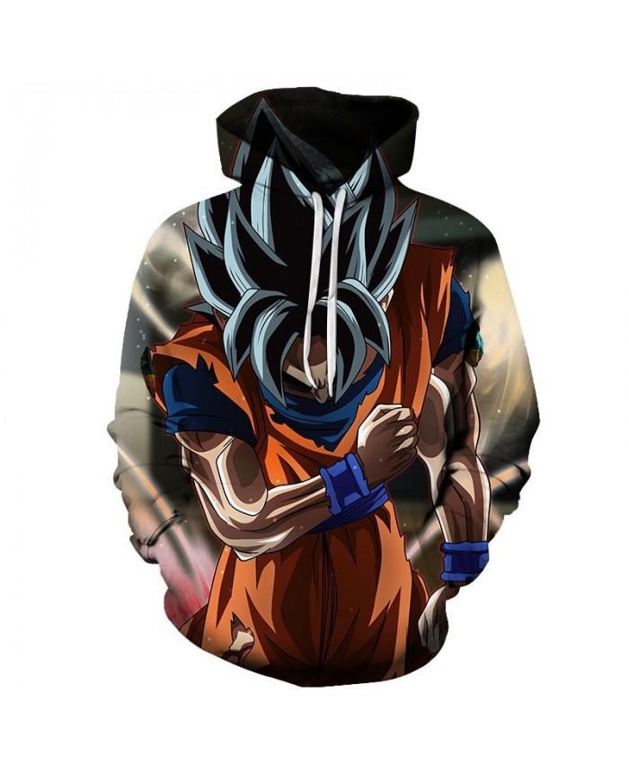 Dragon Ball Cartoon Goku Squat 3D Hoodies Mens Pullover Sweatshirt Brand Cosplay Pullover Hoodie Casual Hoodies Men