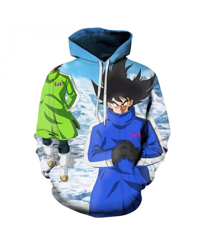 Dragon Ball Cold Winter 3D Hoodies Mens Pullover Sweatshirt Brand Cosplay Tracksuits Pullover Hoodie Casual Hoodies
