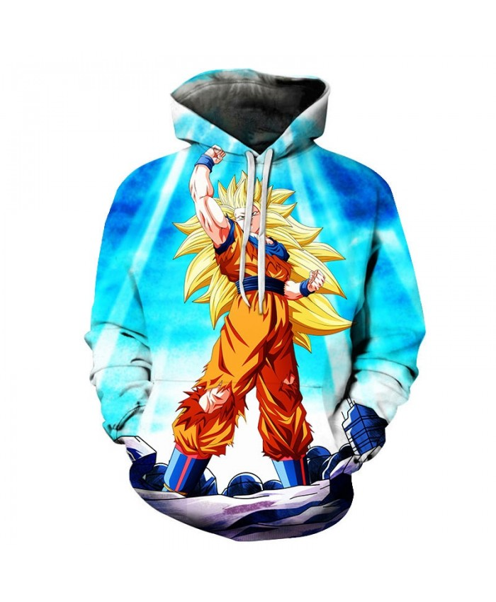 Dragon Ball Gathering Heaven Power 3D Hoodies Mens Pullover Sweatshirt Brand Pullover Hoodie Casual Hoodies Men