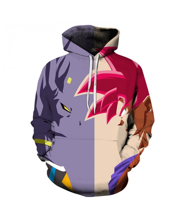 Dragon Ball Looking At Cartoon Goku 3D Hoodies Mens Pullover Sweatshirt Brand Pullover Hoodie Casual Hoodies Men