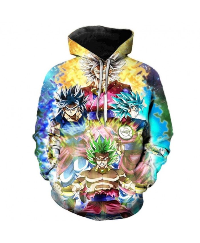 Dragon Ball Super 3D Print Hoodies Men Women Sweatshirts Hoody Cartoon Dragon Ball Super Broly Fashion Casual Plus Size Polluver A
