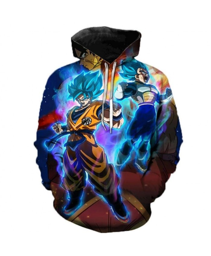 Dragon Ball Super 3D Print Hoodies Men Women Sweatshirts Hoody Cartoon Dragon Ball Super Broly Fashion Casual Plus Size Polluver B