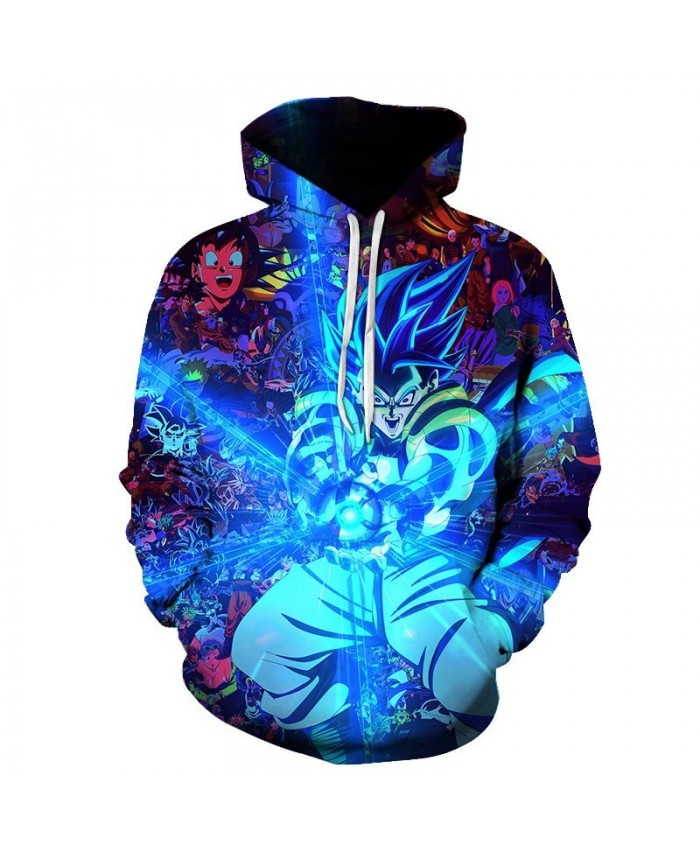 Dragon Ball Super Hoodie Long Sleeve Pullover Fashion Casual Design Men Women Tracksuits Streetwear Hoodies Plus Size B
