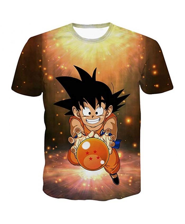 Dragon Ball T Shirt 3D Kids Tshirt Summer Short Sleeve Cute Son Goku Printed Anime Tee Shirt Super Vegeta Casual Tops