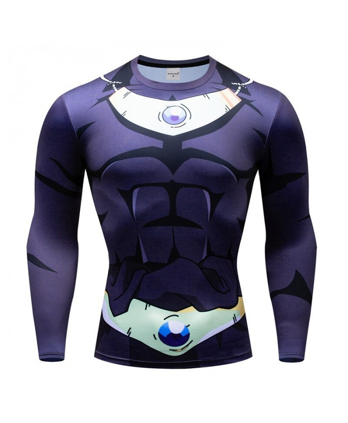 Dragon Ball T shirts Men Compression T-shirts Fitness Superheroes T-shirts Bodybuilding Top Hot Sale rashguard Brand A