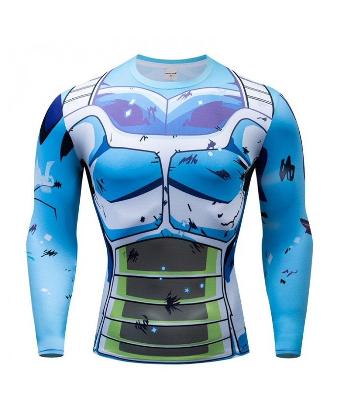 Dragon Ball T shirts Men Compression T-shirts Fitness Superheroes T-shirts Bodybuilding Top Hot Sale rashguard Brand B