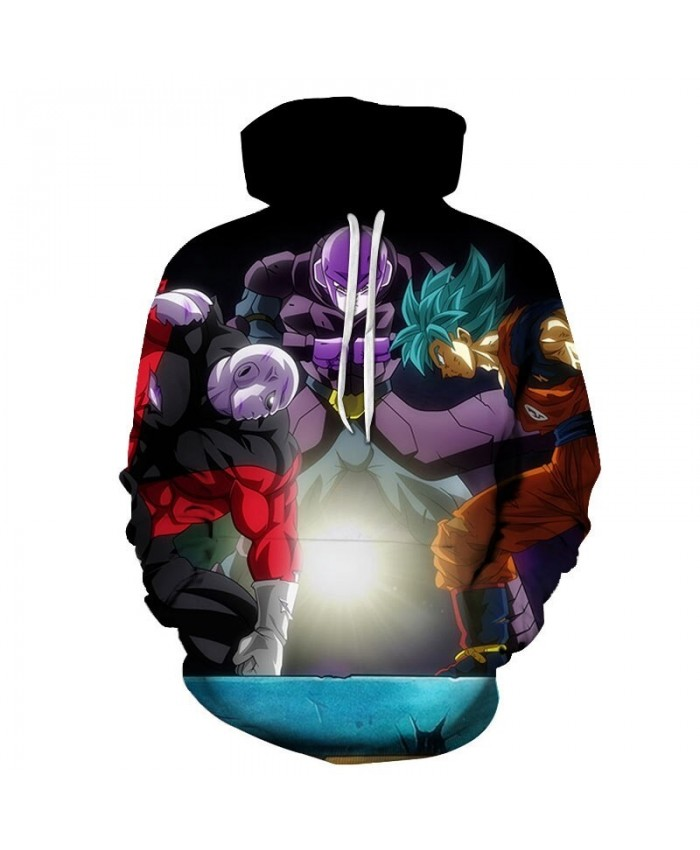 Dragon Ball Three People PK 3D Hoodies Mens Pullover Sweatshirt Brand Cosplay Pullover Hoodie Casual Hoodies Men