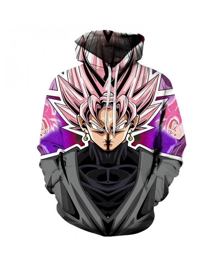 Dragon Ball Wearing Earrings 3D Hoodies Mens Pullover Sweatshirt Brand Cosplay Pullover Hoodie Casual Hoodies Men