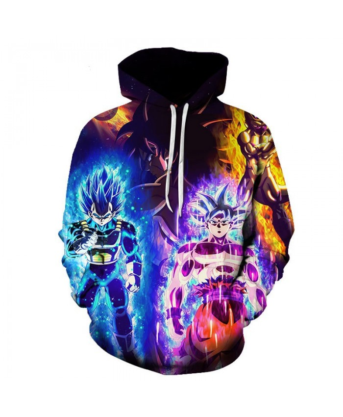 Dragon Ball Z 3D Printed Hooded Sweatshirts Men Women Cartoon Dragon Ball Super Boy/Girl Cool Polluver Casual Streetwear Hoodie E