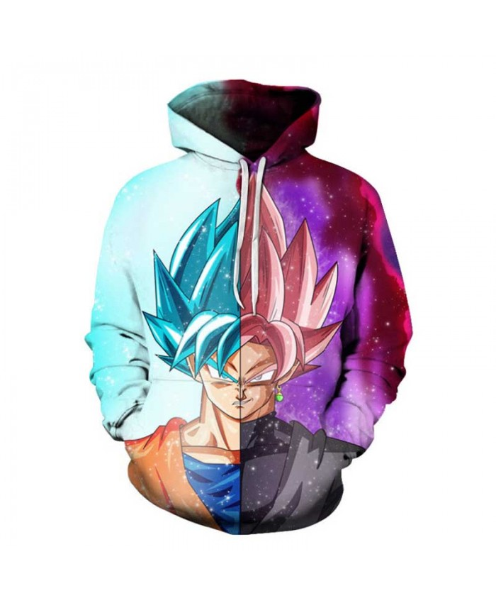 Dragon Ball Z Hoodies 3D Print Pullover Sportswear Sweatshirts Super Saiyan Son Goku Black Vegeta Vegetto Gohan Outfit Tops