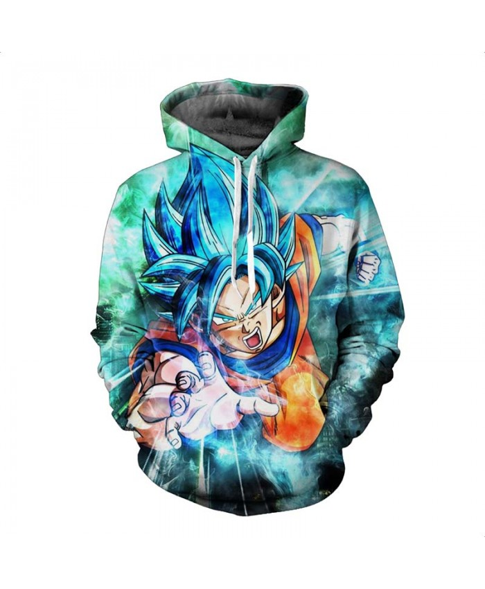 Dragon Ball Z Hoodies 3D Print Pullover Sweatshirts Super Saiyan Son Goku Vegeta Vegetto Trunks Casual Hooded Coat Outfit