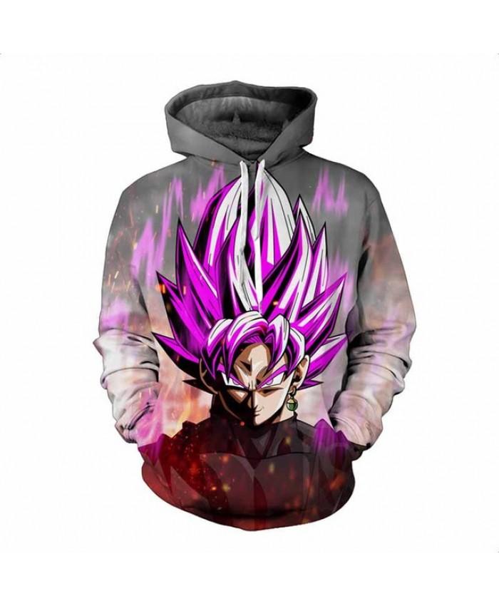 Dragon Ball Z Hoodies 3D Print Pullovers Sportswear Sweatshirts Super Saiyan Son Goku Black Zamasu Vegeta Bulma Tops Outfit