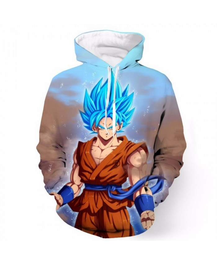 Dragon Ball Z Hoodies 3D Printed Pullover Sweatshirts Super Saiyan Son Goku Vegeta Vegetto Trunks Casual Hooded Coat