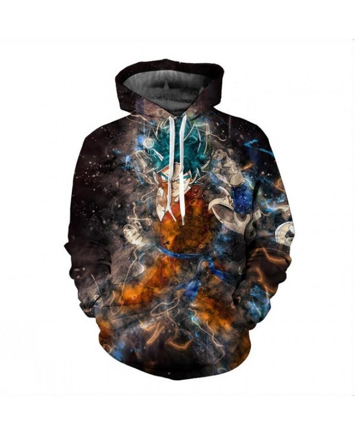 Dragon Ball Z Hoodies 3D Printed Pullovers Sweatshirts Super Saiyan Son Goku Black Vegeta Champa Casual Coat Outfit Tops