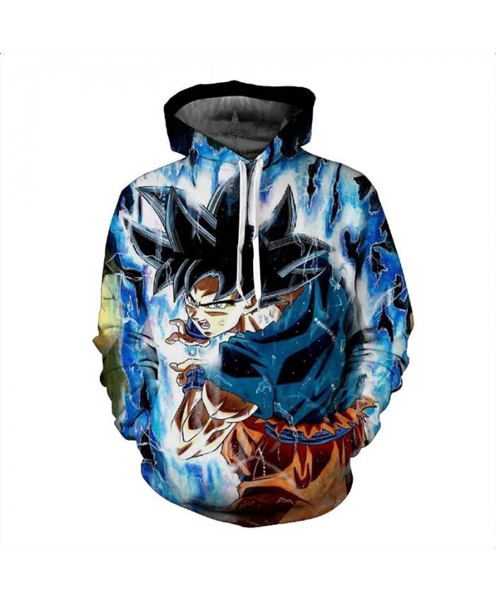 Dragon Ball Z Naruto Men Hoodies 3D Print Pullovers Sportswear Sweatshirts Super Saiyan Son Goku Vegeta Casual Tops Outfit