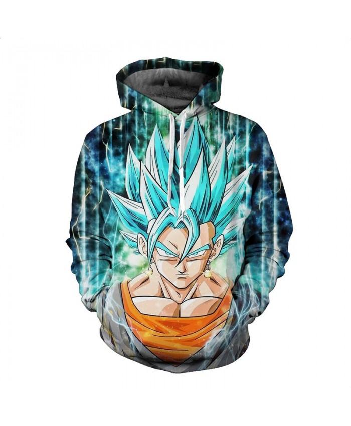 Dragon Ball Z Super Saiyan Printed Mens Hoodies and Sweatshirts Cute Anime 3D Hooded Sweatshirt Men Hip Hop Style Outerwear