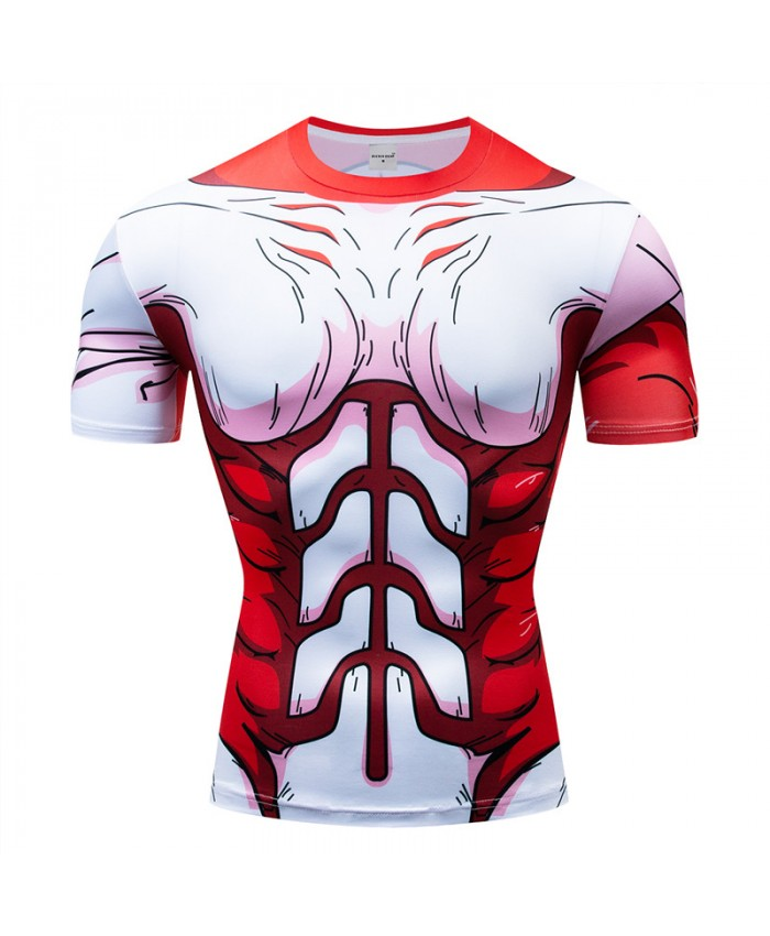 Dragon Ball red t shirts Men Compression T-shirts 3d Short Sleeve Tops Tees Superman tshirts Fitness shirts Drop Ship