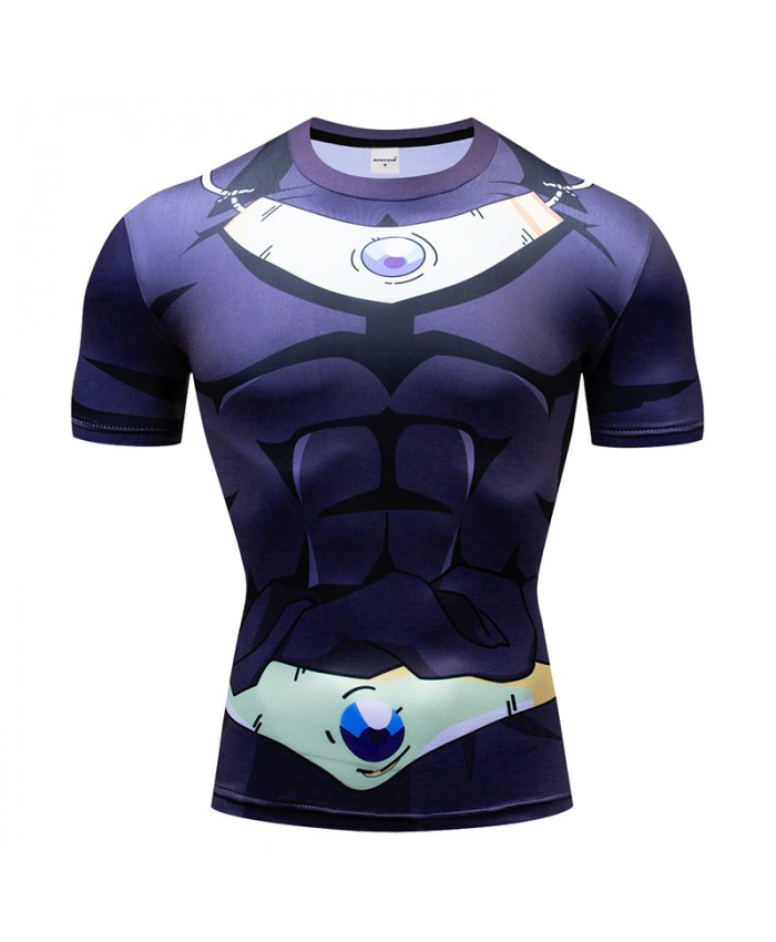 Dragon Ball t shirts Men Compression T-shirts 3d Short Sleeve Tops Tees Superman tshirts Fitness shirts Drop Ship